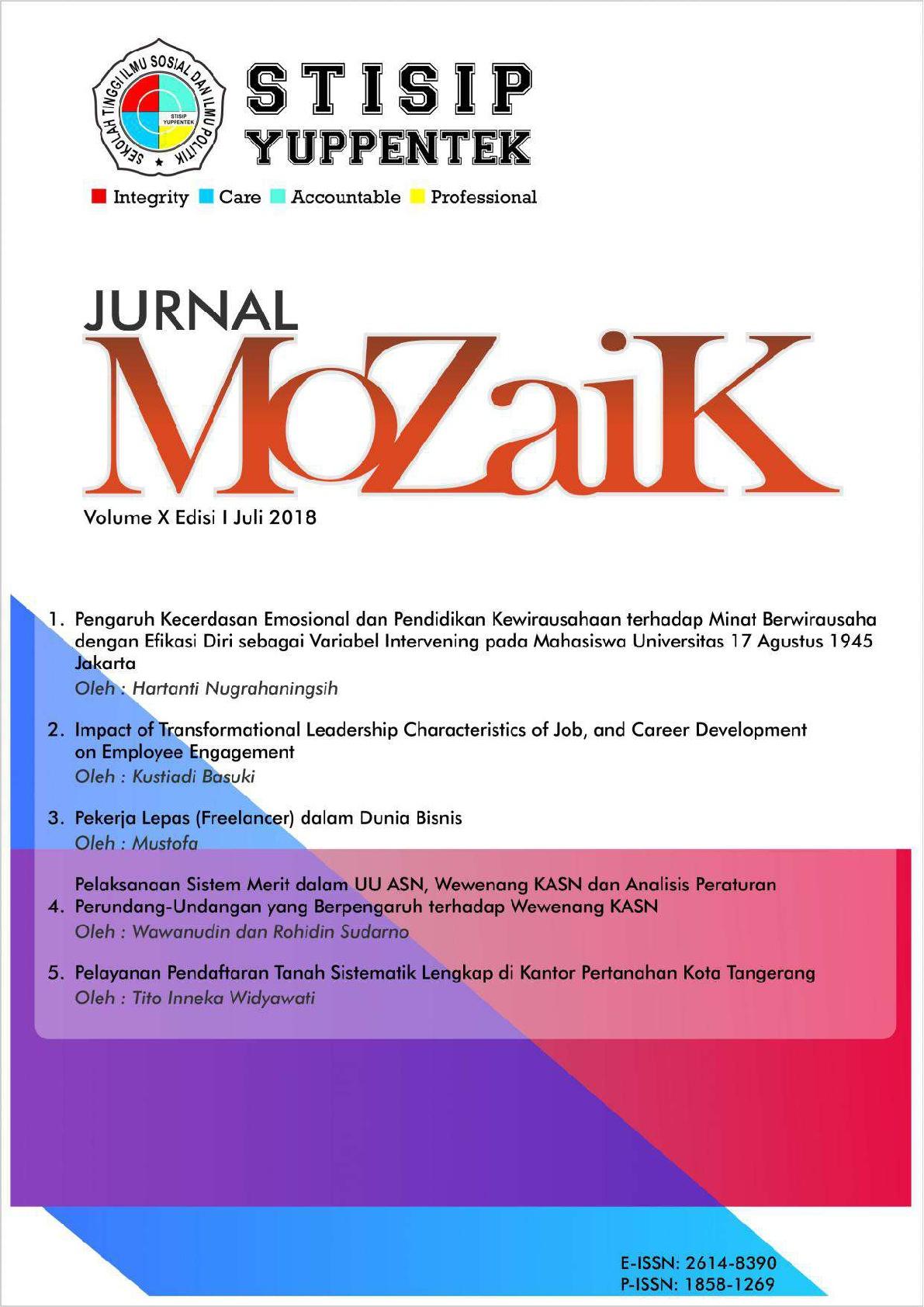Lihat Vol 10 No 1 (2018): MoZaiK Journal