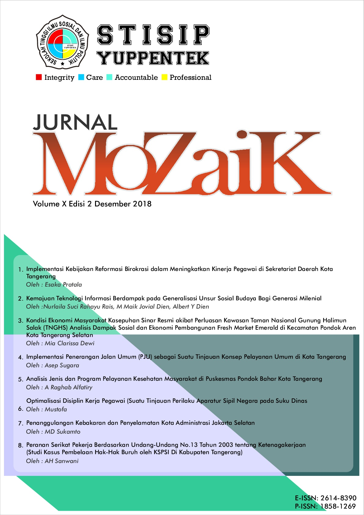 Lihat Vol 10 No 2 (2018): MoZaiK Journal