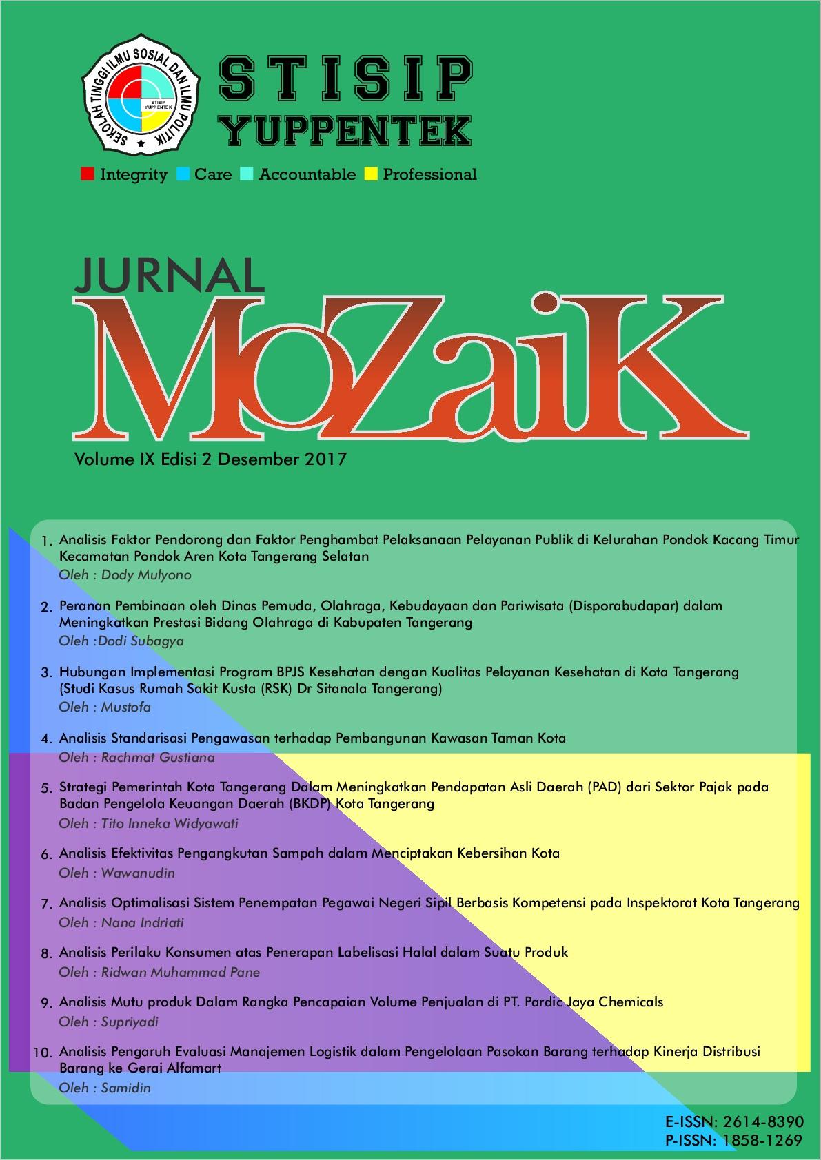 Lihat Vol 9 No 2 (2017): MoZaiK Journal